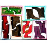 Шаблоны — трафареты — раскраски «Обувь» для аппликации