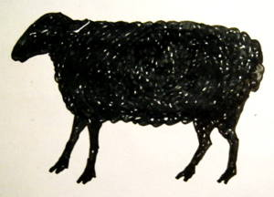 Black sheep drawing