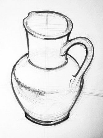 Урок рисования кувшина