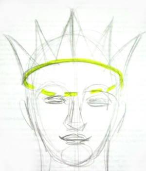 Рисуем корону поэтапно