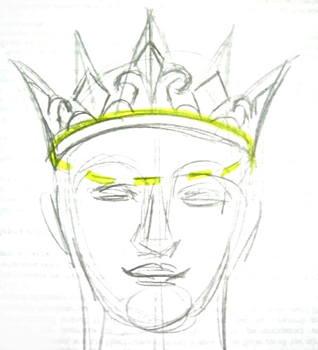 Поэтапный рисунок короны