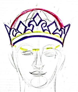 Урок рисования короны