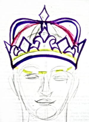 Рисунок - корона на голове