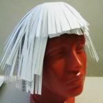 Сделаем парик из бумаги