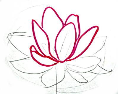 Нарисуем цветок лотоса