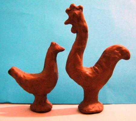 Филимоновские игрушки -Петух и Курица