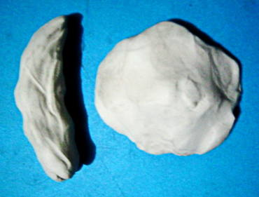 Лепим  гриб Маслёнок из пластилина