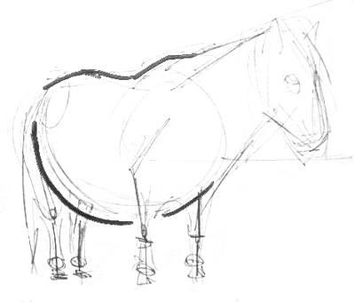 Нарисуем лошадку -пони