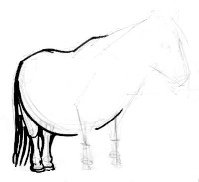 Поэтапный рисунок пони