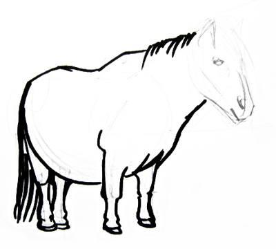 Урок рисования пони
