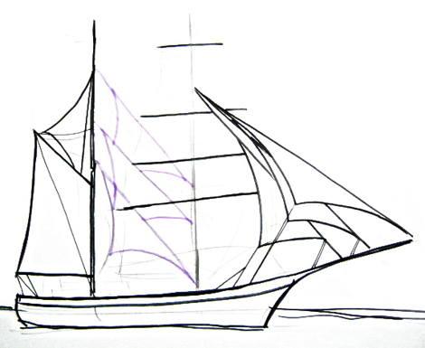 Как нарисовать паруса
