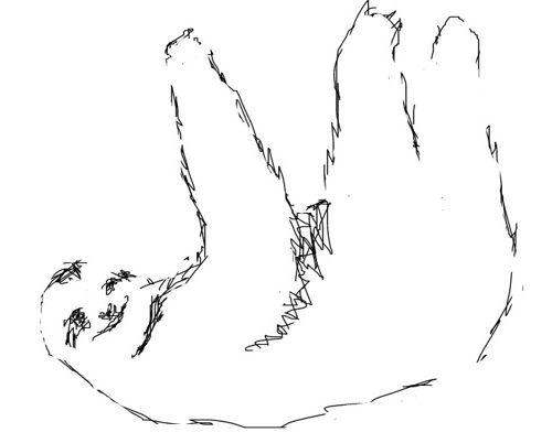 Рисунок Ленивец
