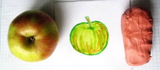 Лепка яблоко