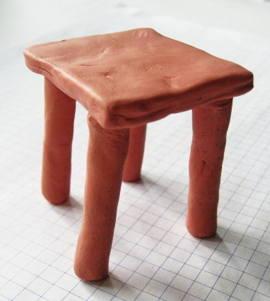 Стол из пластилина