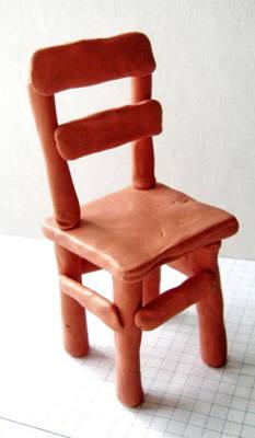 Лепка -стул из пластилина