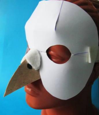Маска голубя