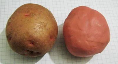 Картошка из пластилина - лепка с натуры