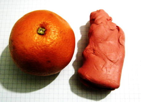 Слепим апельсин
