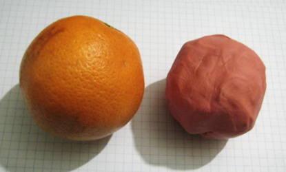 Лепим апельсин