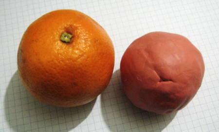 Лепка апельсина