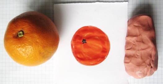 Слепим апельсин с натуры