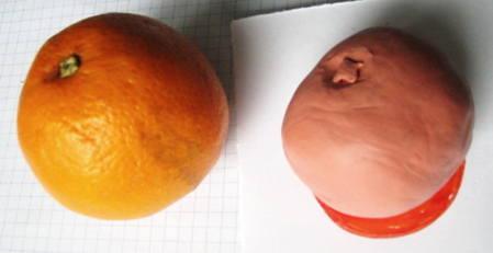 Лепка апельсин
