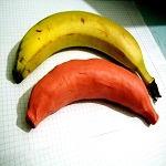 Лепка банана из пластилина