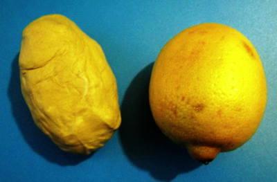 Как слепить лимон