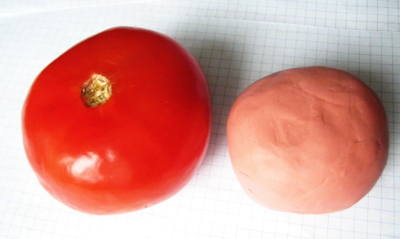 Лепка помидора