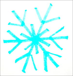 Рисунок снежинка.