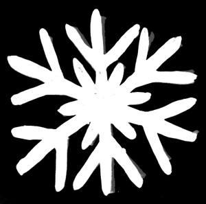 Лепка -снежинка из пластилина.