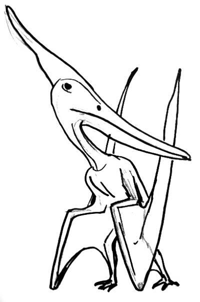 Рисунок -птеродактиль птеранодон.