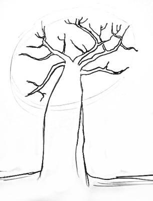 Урок рисования баобаба