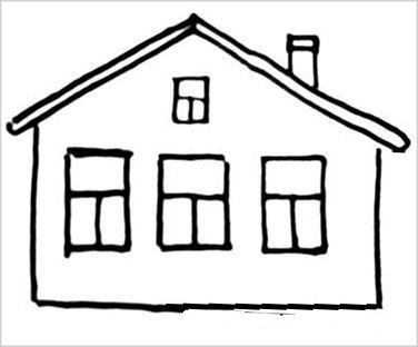 Рисунок дом -деревенская избушка