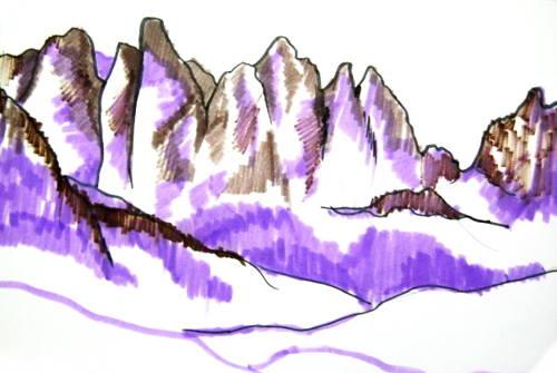 Как рисовать горы