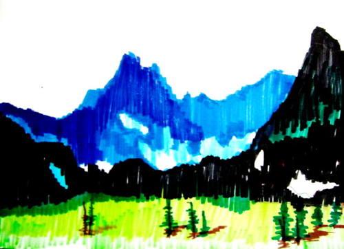 Рисунок гор
