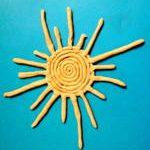 Лепка солнце из пластилина