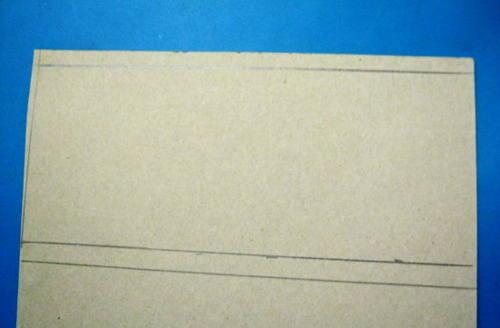 Выкройка цилиндра из бумаги.