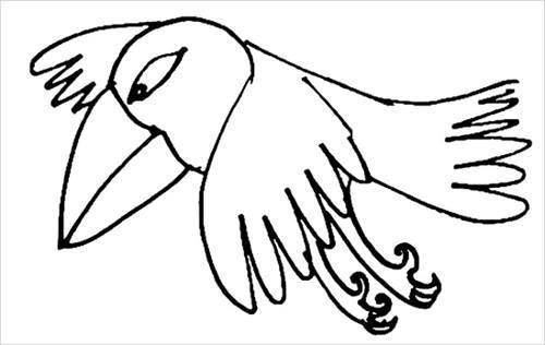 Раскраска сказочная птица -3
