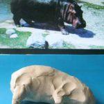 Лепка: бегемот из пластилина