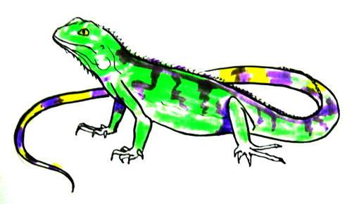 Игуана рисунок