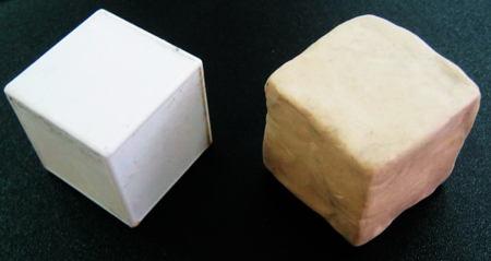 Куб из пластилина
