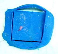 Лепка квадрат из пластилина.