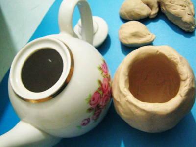 Лепим чайник с натуры