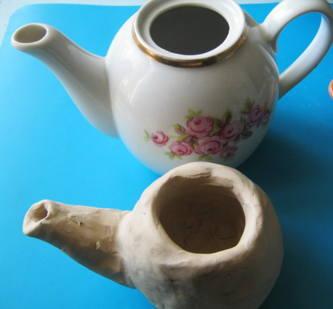 Заварочный чайник из пластилина