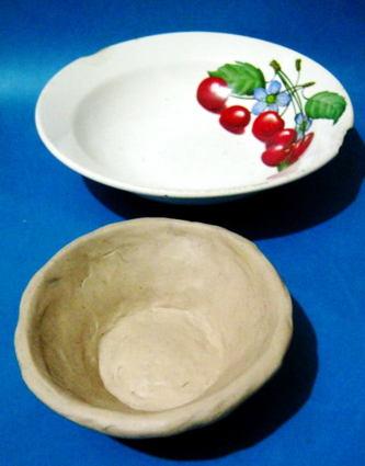 Лепка тарелка из пластилина