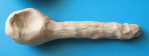 Урок лепки ложки из пластилина