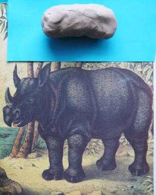 Как слепить носорога