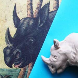 Голова носорога из пластилина