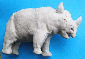 Носорог из пластилина 3